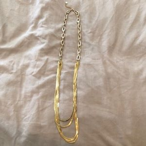 Bebe gold layered necklace. OS fits all. 💛